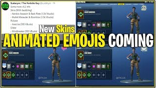*NEW* Fortnite: LEAKED ANIMATED EMOJIS, NEW SKINS, AND MORE! | (v5.2 Update Leaked)