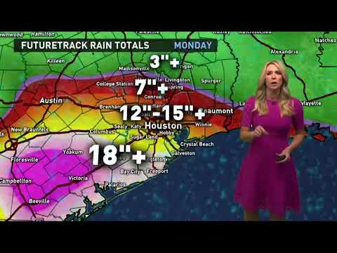 Houston weather forecast & Tropical Storm Harvey update - 6:45 a.m. update