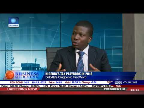 Yomi Olugbenro Dissects Nigeria's Tax Playbook in 2018