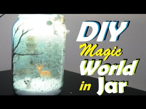 Decoupage On Jar +Upsidedown Decoupage   A Magical World In A Jar