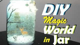 Decoupage on Jar +Upsidedown Decoupage | A Magical World in a Jar