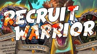 Il Recruit Warrior fa paura!!! | Hearthstone