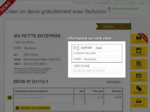 Devis ou facture auto entrepreneur gratuit en 4 minutes for Devis garage auto gratuit