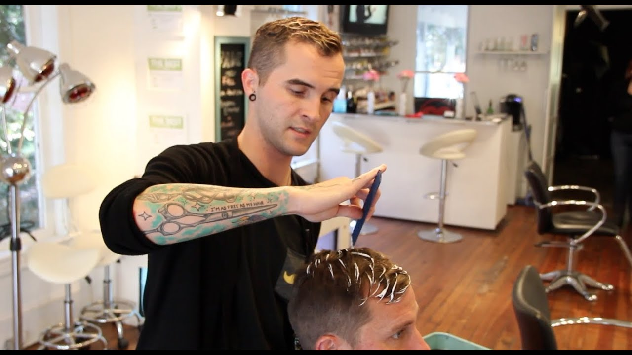 HAIR TUTORIAL: BALAYAGE FOR MEN - BROLAYAGE HAIR COLOR TECHNIQUE - MENS HAIR COLOR