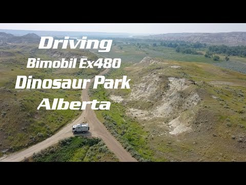 Driving through Dinosaur Provincial Park- Alberta