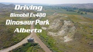 Driving through Dinosaur Provincial Park- Alberta