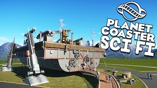 Planet Coaster Beta Gameplay - Steampunk Robot! - Let's Play Planet Coaster Beta Part 4