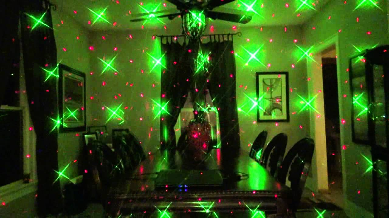 The Micro Star Laser From American Dj In Real Fog Youtube