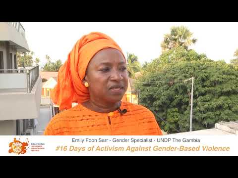 Emily Foon-Sarr, Gender Specialist at UNDA The Gambia shares her #iBelieve message for 16 Days of Activism against GBV