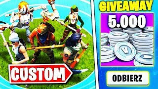 NOWY SEZON 10 * CUSTOMY LATE GAME * - WYGRAJ 5k$ V-DOLCOW W FORTNITE | hajTv