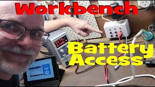 Connecting my battery to my workbench.