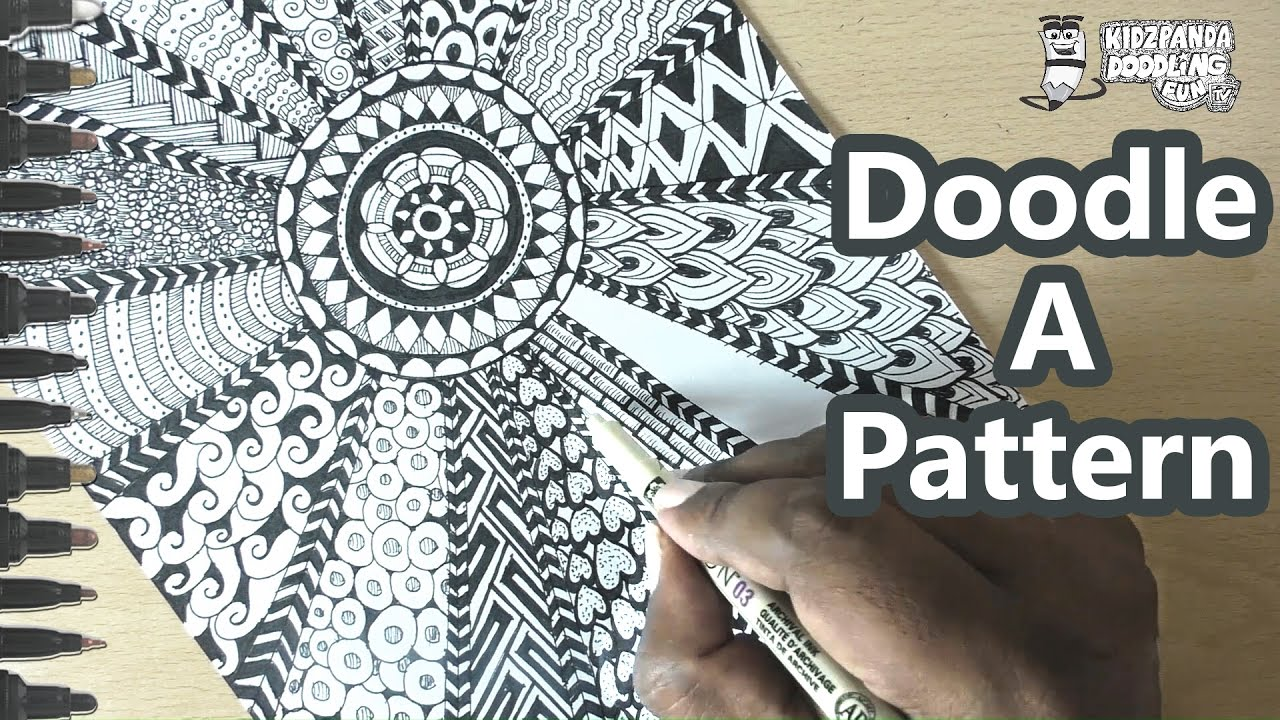 Doodle Art For Beginners Step By Step Doodle Patterns To
