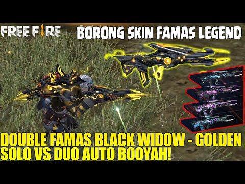 FAMAS LEGEND BLACK WIDOW-GOLDEN! DAMAGE SUPER NGERI! HARGA SUPER MURAH! FREE FIRE INDONESIA
