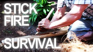 Cast away on a deserted island? Here's a survival technique for making a fire with the most basic of resources. How to make a fire rubbing 2 sticks together!