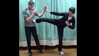 Вин Чун кунг-фу: урок 23. ЧУМ КИУ ТАО (ЛАН САУ и боковой удар ногой )