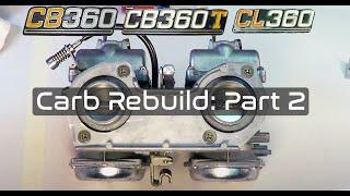 honda cb360 carburetor rebuild part 2