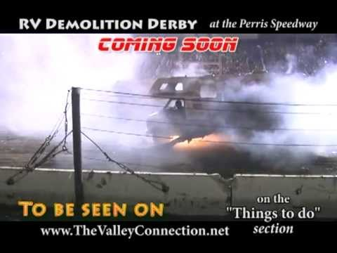 RV Demolition Derby at Perris Auto Speedway -Rv'ers this is more fun then trading it in!