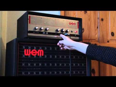 VINTAGE WEM (WATKINS ELECTRIC MUSIC) ER40 GUITAR AMPLIFIER & SUPER DUEL 12 SPEAKER CAB,  EBAY UK