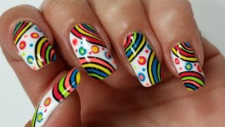 Summer Nail Art!!! Rainbow Nails Design