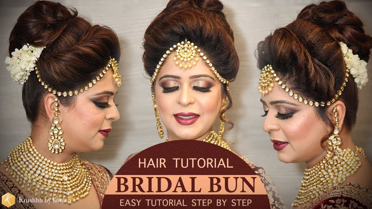 Easy Bridal Bun Hairstyle Tutorial Step By Step Bridal Hairstyle