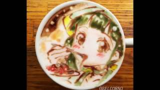 """I'm """"BELCORNO"""" drawing LatteArt ( Art on the coffee) in Japan. If y..."""