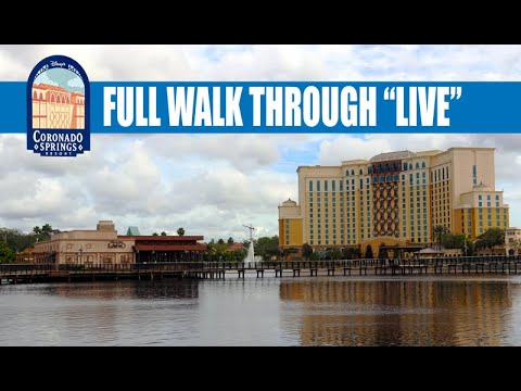 Disney's Coronado Springs Resort Live Walk Through with Michael from Theme Park Brothers
