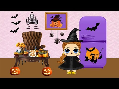QUIET BOOK: LOL DOLL ON HALLOWEEN. Paper Dolls Crafts for Kids.