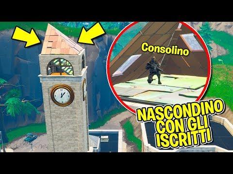 Fortnite ITA - NASCONDINO CON GLI ISCRITTI DENTRO PINNACOLI!!