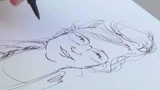 Caricatures with Bosun Joe at The Pekin Marigold Festival 2017