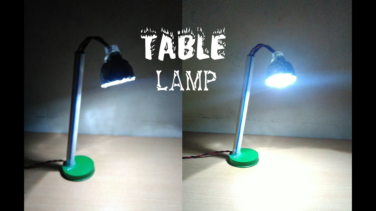 How to make table lamp at home easy way sdik rof youtube mozeypictures Image collections
