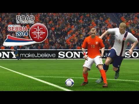 Holland vs. Norway | Two-legged tie final match | Road To World Cup Serbia 2014 | FIFA 14