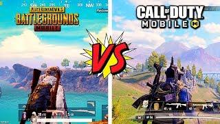 ? Pubg Mobile vs Call of Duty Mobile ? Battle Royale Comparison