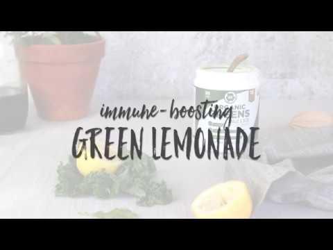 Immune Boosting Lemonade With BN Labs Organic Greens