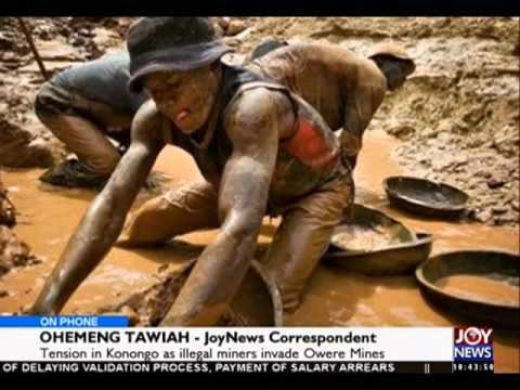 Tension in Konongo as illegal miners invade Owere Mines - News Desk on Joy News 11 4 16