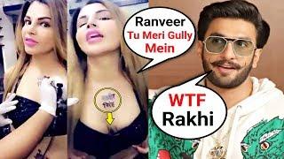 Rakhi Sawant Gully Boy Tattoo For Ranveer Singh Is CRAZY!