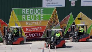 Recycling Guru Charges Ahead With Toyota Electric Forklifts