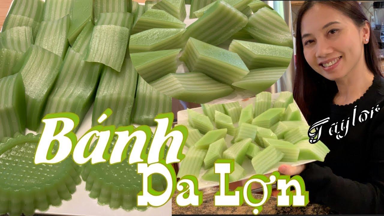 Bánh Da Lợn – Cách làm bánh da lợn đậu xanh và lá dứa – Vietnamese Ver – Steamed Layers Cake