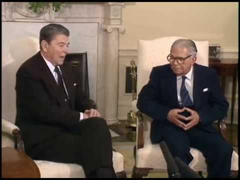 President Reagan's Meetings with President Balaguer of The Dominican Republic on March 25, 1988