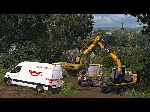 Travaux publics PANNE MOTEUR | Farming Simulator 17