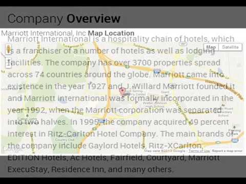Marriott International, Inc Corporate Office Contact Information
