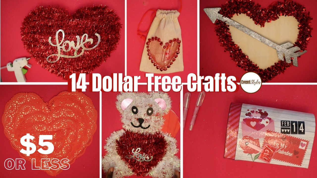 14 SIMPLE DOLLAR TREE DIY CRAFT IDEAS FOR VALENTINES DAY: Valentines Day Gift Ideas 2021 UNDER $5