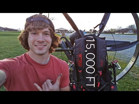Flying To 15,000 Feet On My Paramotor - Paravlog #12