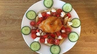 Proteiinipitoinen kana-fetapasta
