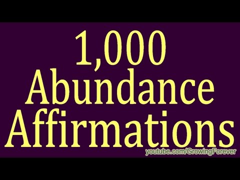 1,000 ★POWERFUL★ Abundance Affirmations & Images - Wealth Mo