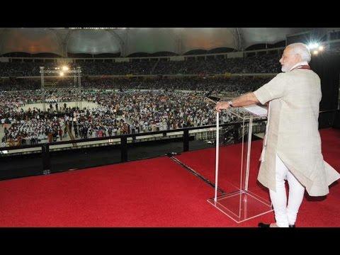 LIVE: Narendra Modi Speech at Dubai Cricket stadium | Rockstar Welcome