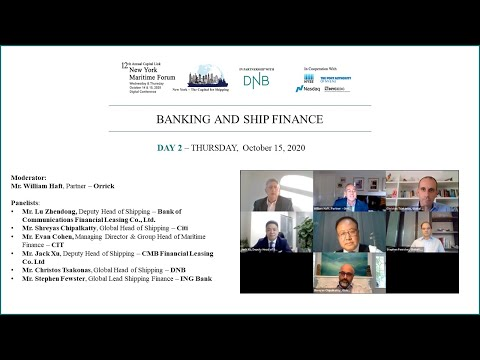 2020 New York Maritime Forum - Banking and Ship Finance