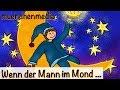 Kinderlieder zum Mitsingen - Wenn der Mann im Mond ... - Schlaflieder