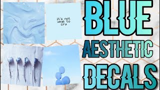 Roblox Bloxburg - Blue Aesthetic Decal Id's