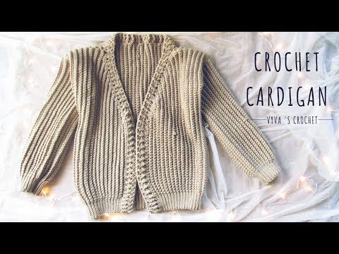 [Crochet Cardigan] Hướng Dẫn Móc áo Cardigan