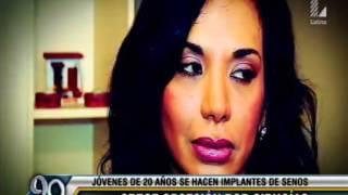Latina  Entrevista sobre  consecuencias de las roturas de los implantes mamarios